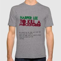 To Kill A Mockingbird Mens Fitted Tee Athletic Grey SMALL