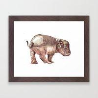 Baby hippo Framed Art Print