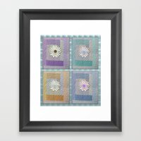 Flower Quilt Framed Art Print