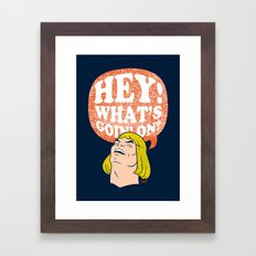 Hey-Man Framed Art Print
