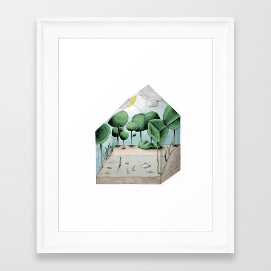 Biosphere Home Farm Framed Art Print