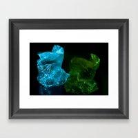Recycling Plastic Framed Art Print