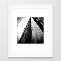 Framed Art Print featuring Looking up by Vorona Photography