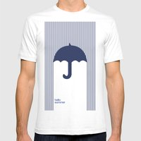Hello Summer Mens Fitted Tee White SMALL