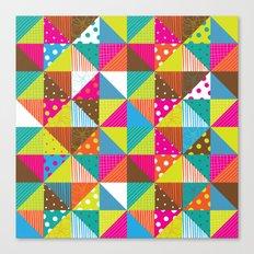Crazy Squares Canvas Print