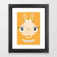 Ms. Honey Bunny Framed Art Print