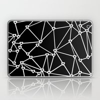 Abstract Heart Zoom Black Laptop & iPad Skin