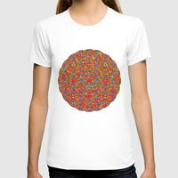 Verre Colore Pattern Womens Fitted Tee White SMALL