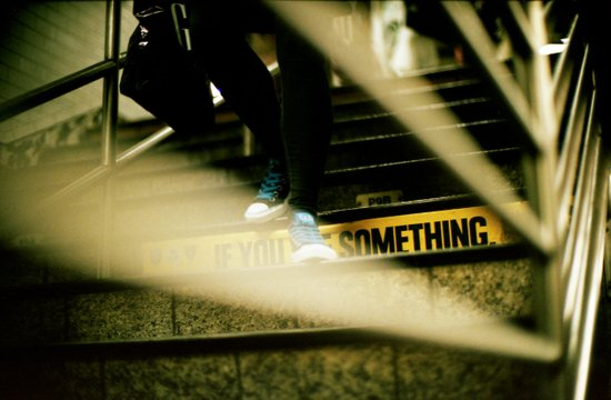 New York Subway Shoes Canvas Print