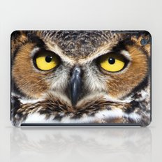Great Horned Owl Face iPad Case