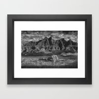 Pinnacles and Spires in the Badlands Framed Art Print