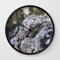 Crystalline Moss Wall Clock