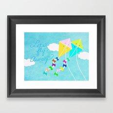Let's Fly Away... Framed Art Print