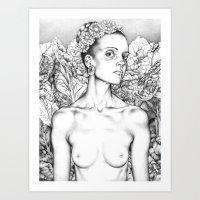 Self Portrait as a Beautiful Lady  Art Print