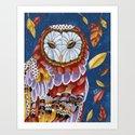 Owl Aura Art Print