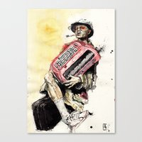 Johnny Depp as Hunter S. Thompson in Fear and Loathing Canvas Print