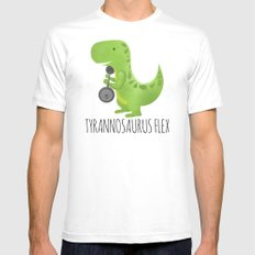 Tyrannosaurus Flex SMALL Mens Fitted Tee White