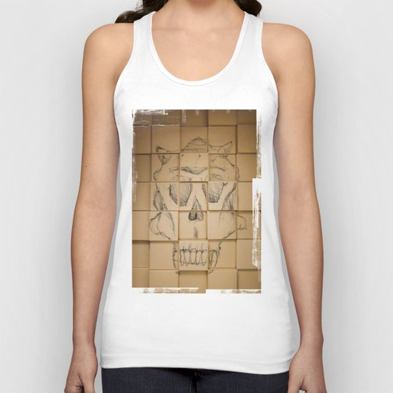 Space in Boxes Unisex Tank Top