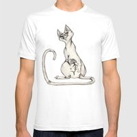 Cats With Tats V.1 Mens Fitted Tee White SMALL