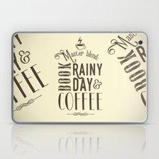 Coffee, book & rainy day II Laptop & iPad Skin