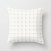 Mint Diamonds Throw Pillow