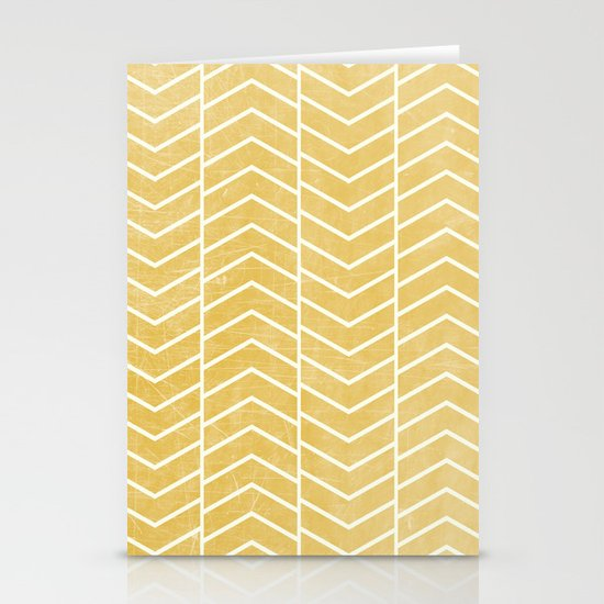 Yellow Chevron Stationery Card
