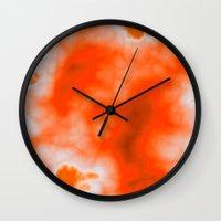 Orange Essence  Wall Clock