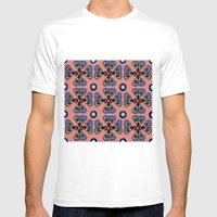 Butterflies And Dots Mens Fitted Tee White SMALL