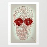 Unravel skull Art Print