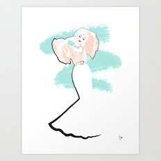 'Haiku' Fashion Illustration Art Print