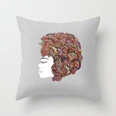 Her Hair - Les Fleur Edi… Throw Pillow