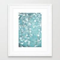 Aqua Bubbles Framed Art Print