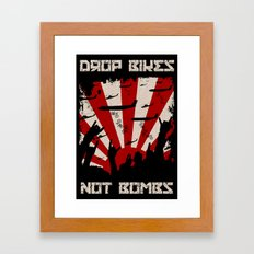 DROP BIKES Framed Art Print