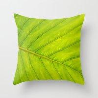 Tropical Leaf Vein Abstr… Throw Pillow