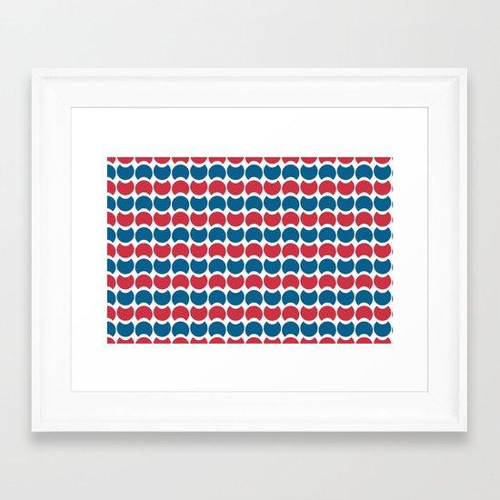 Hob Nob America Stripes Framed Art Print
