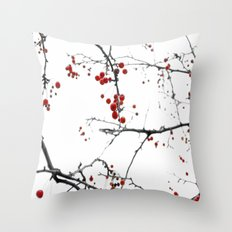 Little Red Kisses Throw Pillow