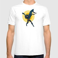 The Bat Dude Mens Fitted Tee White SMALL