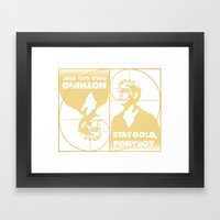 Stay (Nothing Gold Can Stay) Ponyboy Framed Art Print