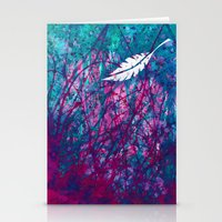 Floating Feather Stationery Cards