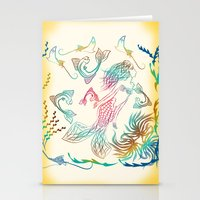 mermaid Stationery Cards featuring Mermaid by famenxt