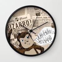 Bizarro Monkey Wall Clock