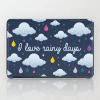 I Love Rainy Days iPad Case