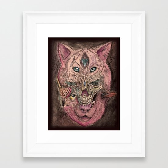 Four Kingdoms Framed Art Print