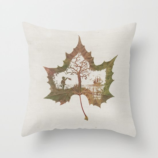 A Fall Story Throw Pillow