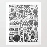 Modern Elements With Bla… Art Print