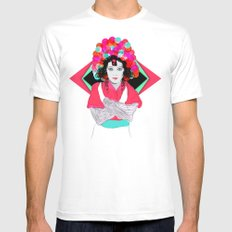 Anna May White SMALL Mens Fitted Tee