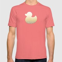 Gradient yellow and white swirls doodles Mens Fitted Tee Pomegranate SMALL