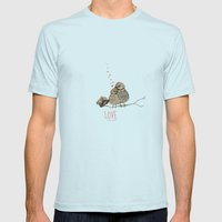 LOVE Mens Fitted Tee Light Blue SMALL