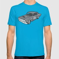 Stock Car 01 - Ted Schmilly Mens Fitted Tee Teal SMALL