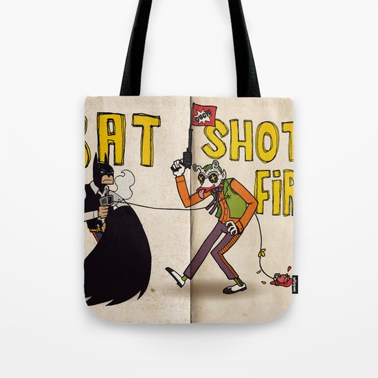 BAT SHOT FIRST Tote Bag